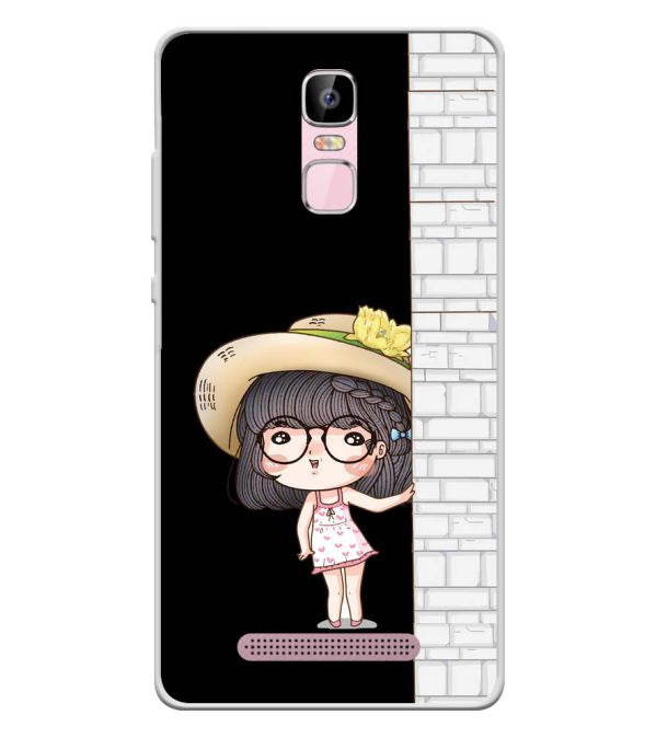 Innocent Girl Soft Silicone Back Cover for Zen Admire Sense Plus