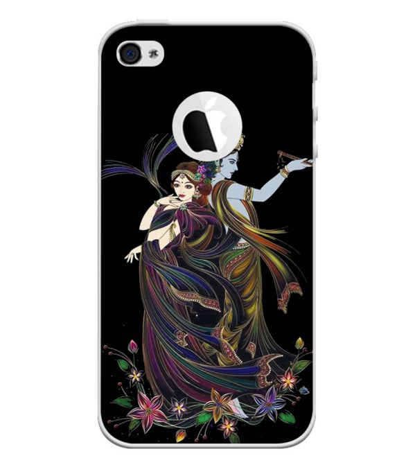 Jai Radha Krishna Back Cover for Apple iPhone 4 and iPhone 4S (Logo Cut)-Image3
