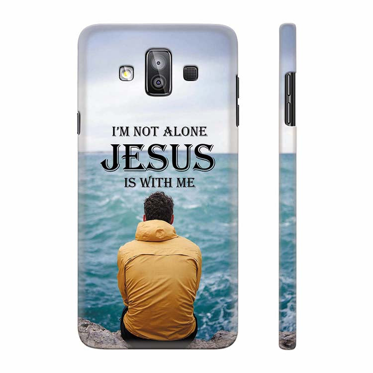 buy online ea294 b0815 Jesus is with Me Back Cover for Samsung Galaxy J7 Duo
