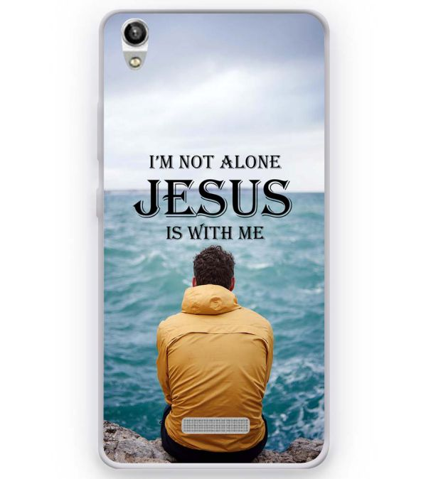 Jesus is with Me Soft Silicone Back Cover for Micromax Canvas Fire Q386