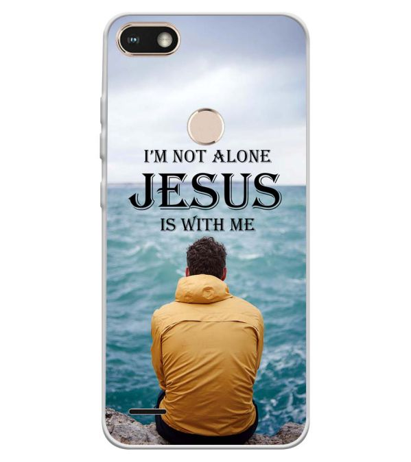 huge discount 2bf8f 5a8e7 Jesus is with Me Soft Silicone Back Cover for Tecno Camon I Sky