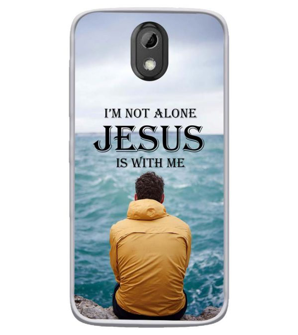 Jesus is with Me Soft Silicone Back Cover for HTC Desire 526