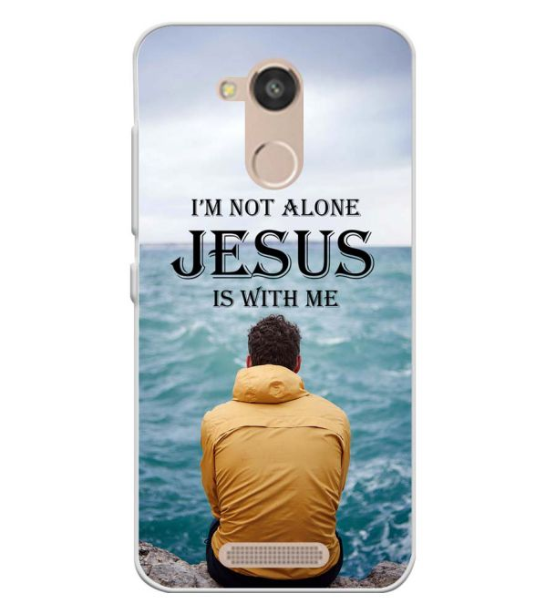 Jesus is with Me Soft Silicone Back Cover for InFocus Turbo 5s