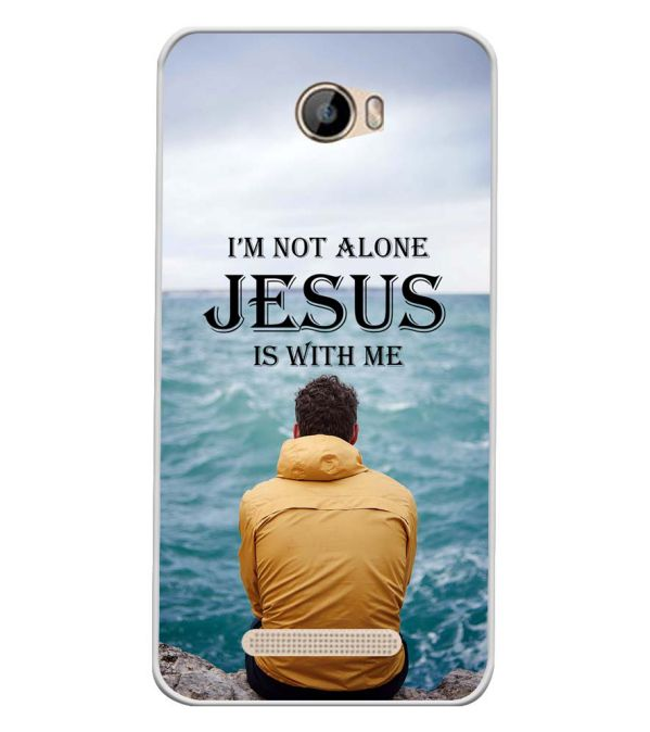 Jesus is with Me Soft Silicone Back Cover for Intex Aqua 5.5 VR