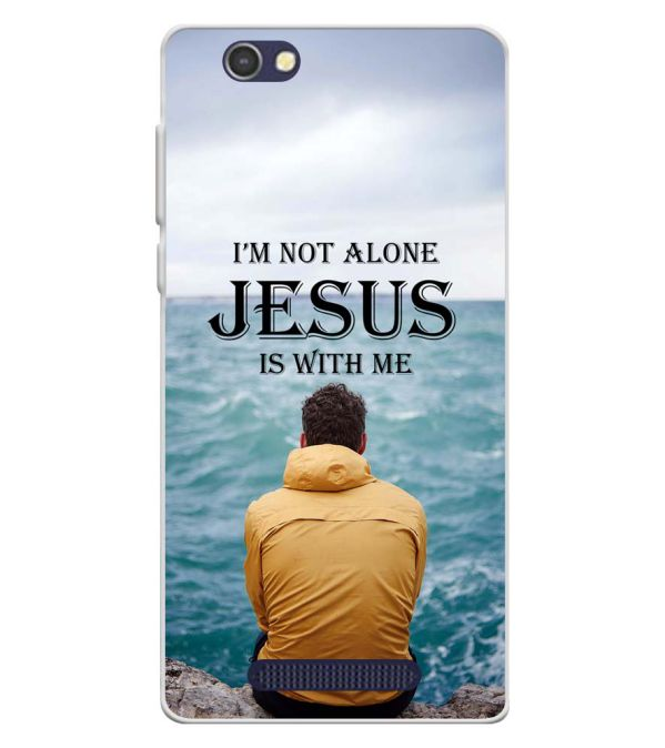 Jesus is with Me Soft Silicone Back Cover for Lava A72