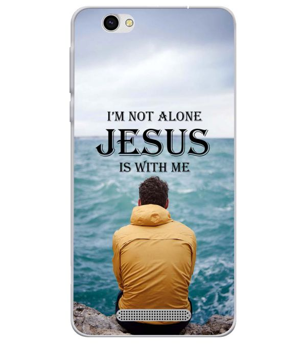 Jesus is with Me Soft Silicone Back Cover for Lava X28