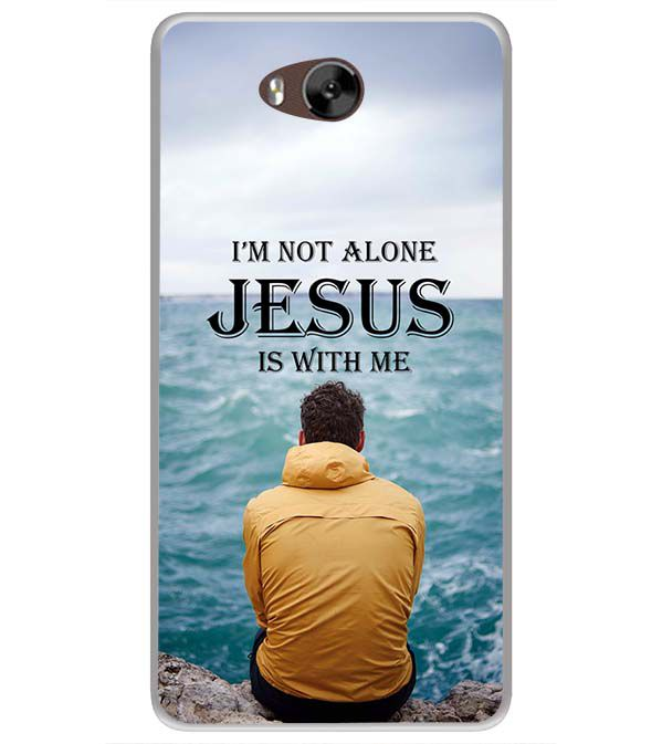 Jesus is with Me Soft Silicone Back Cover for LYF Wind 4s