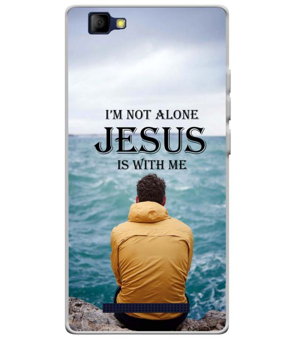 Jesus is with Me Soft Silicone Back Cover for Lyf Wind 7S