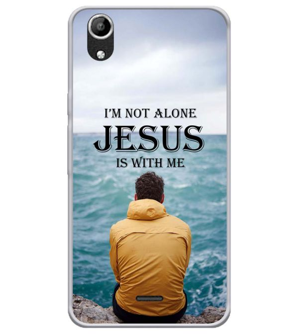 Jesus is with Me Soft Silicone Back Cover for Micromax Selfie Lens Q345