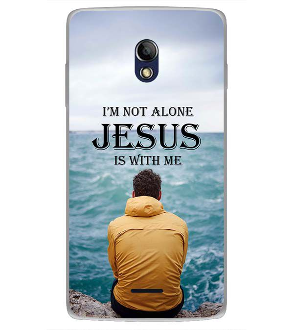 Jesus is with Me Back Cover for Oppo Joy 3 Plus