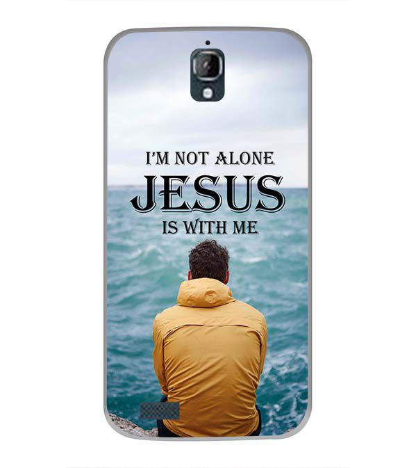 Jesus is with Me Back Cover for Panasonic Eluga Icon