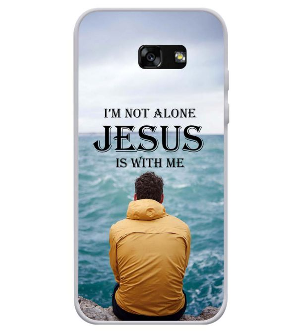 Jesus is with Me Soft Silicone Back Cover for Samsung Galaxy A3 (2017)
