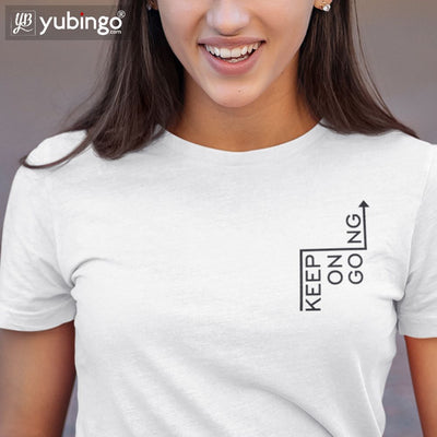 Keep On Going T-Shirt-White