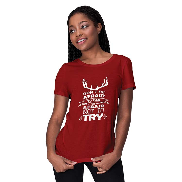 Keep Trying Women T-Shirt-Grey Melange