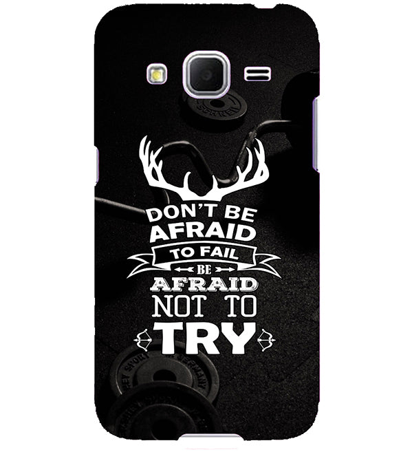 newest 4e432 64725 Keep Trying Back Cover for Samsung Galaxy Core Prime