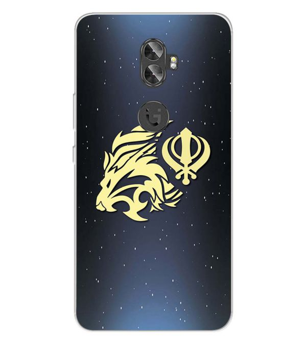 timeless design 78da3 93617 Khanda Sahib Back Cover for Gionee A1 Plus