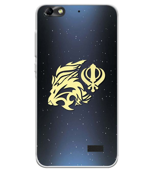 new concept fcf30 fde47 Khanda Sahib Soft Silicone Back Cover for Huawei Honor Bee 4G