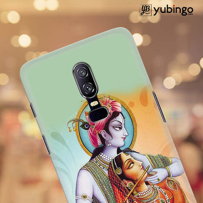 Krishna And Radha Back Cover for OnePlus 6-Image4