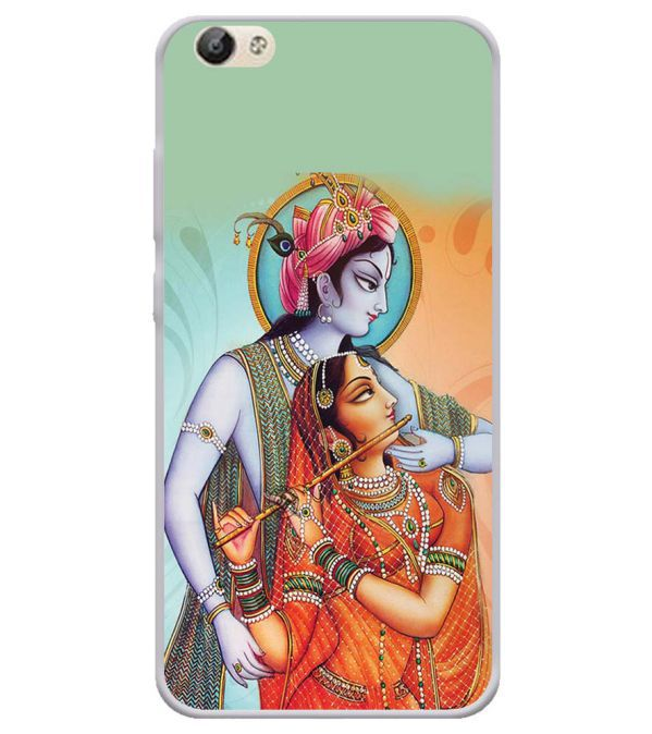 Krishna And Radha Soft Silicone Back Cover for Vivo Y66