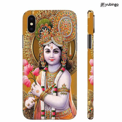 Krishna With Flowers Back Cover for Apple iPhone X