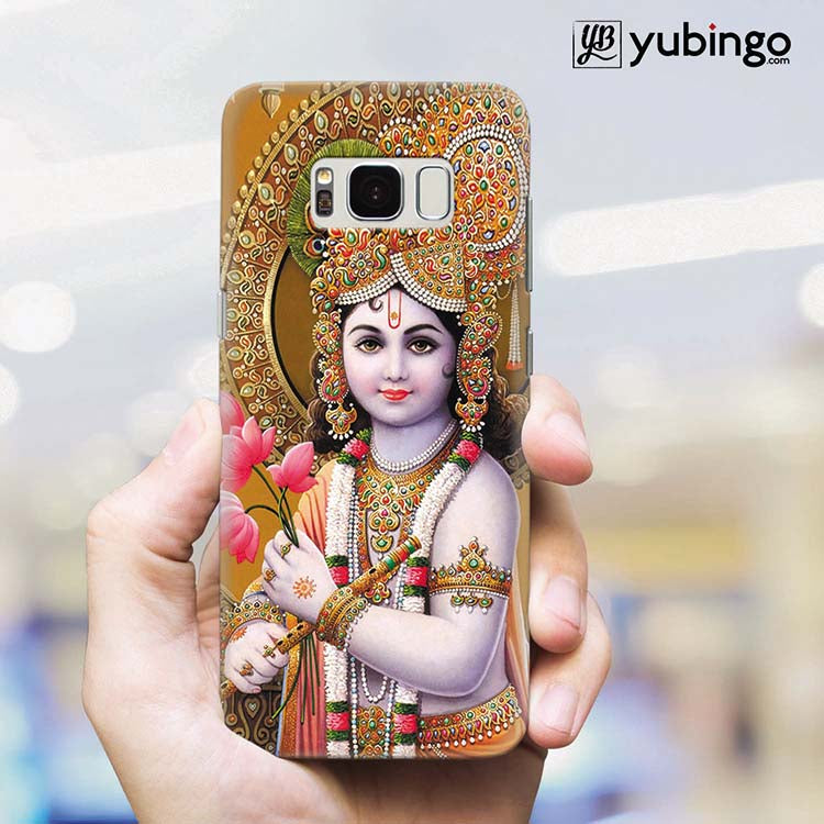 Krishna With Flowers Back Cover for Samsung Galaxy S8 Plus