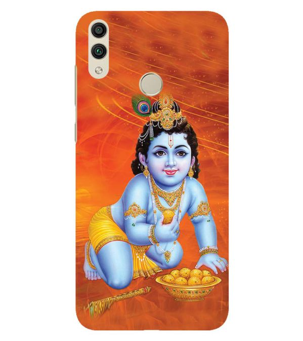 Krishna With Ladoos Back Cover for Huawei Honor 8C