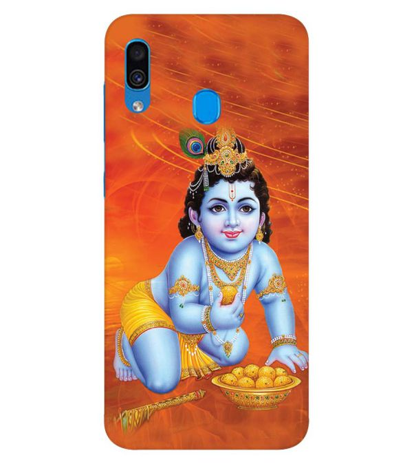 Krishna With Ladoos Back Cover for Samsung Galaxy A30