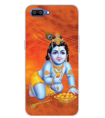 Krishna With Ladoos Back Cover for Realme C1 (2019)-Image3
