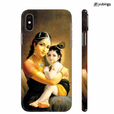 Krishna With Yashoda Back Cover for Apple iPhone X