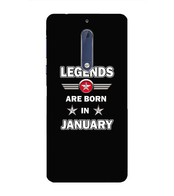 Legends Customised Back Cover for Nokia 5
