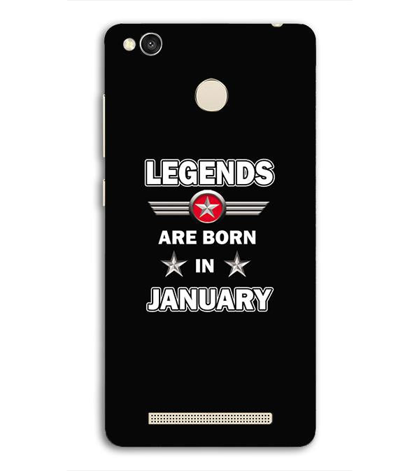 Legends Customised Back Cover for Redmi 3S Prime (With Sensor)