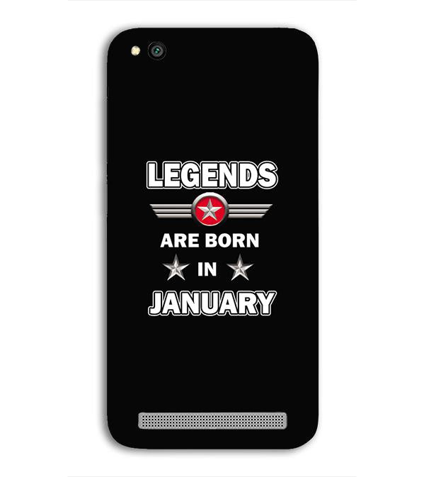 Legends Customised Back Cover for Xiaomi Redmi 5A