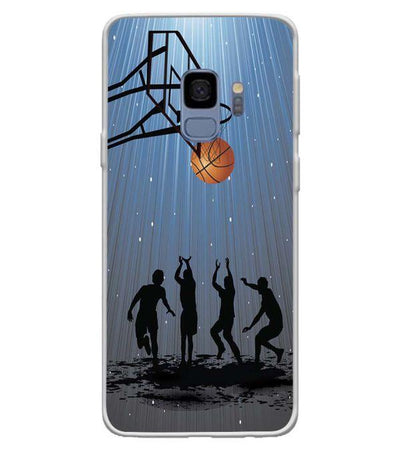 Let's Play Basketball Back Cover for Samsung Galaxy S9