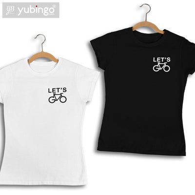 Let's Cycle T-Shirt-White
