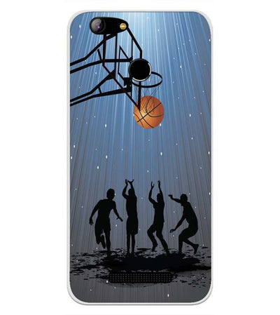 Let's Play Basketball Back Cover for Intex Aqua Lions X1