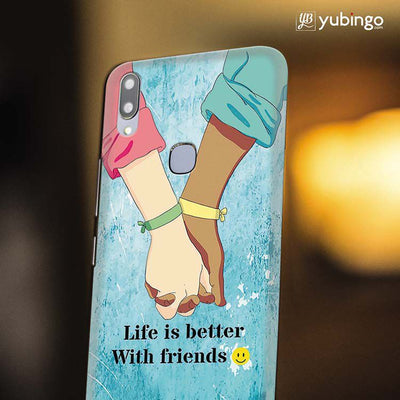 Life is Better with Friends Back Cover for Vivo X21-Image4
