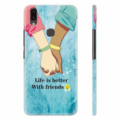 Life is Better with Friends Back Cover for Vivo X21