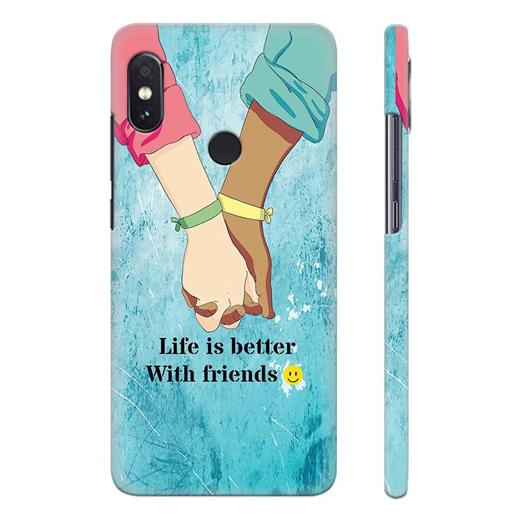 san francisco 59096 e7a6c Life is Better with Friends Back Cover for Xiaomi Redmi Note 5 Pro