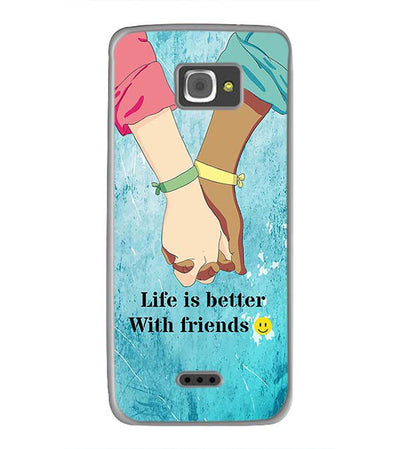 Life is Better with Friends Back Cover for InFocus M350