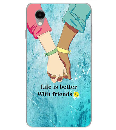 Life is Better with Friends Back Cover for ITEL PWO Pro