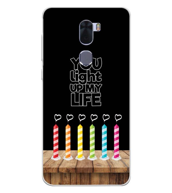 Light Up My Life Soft Silicone Back Cover for Coolpad Cool 1