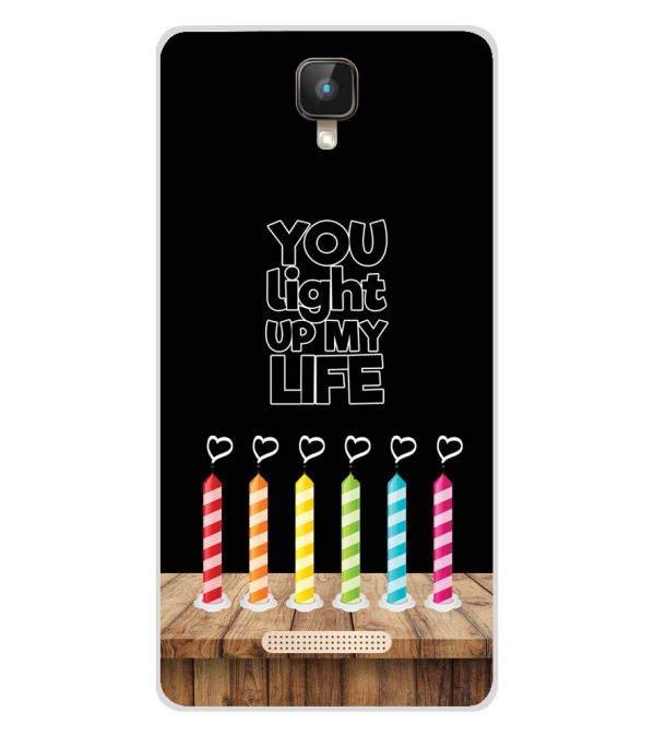 Light Up My Life Soft Silicone Back Cover for Intex Aqua Lions 2 4G