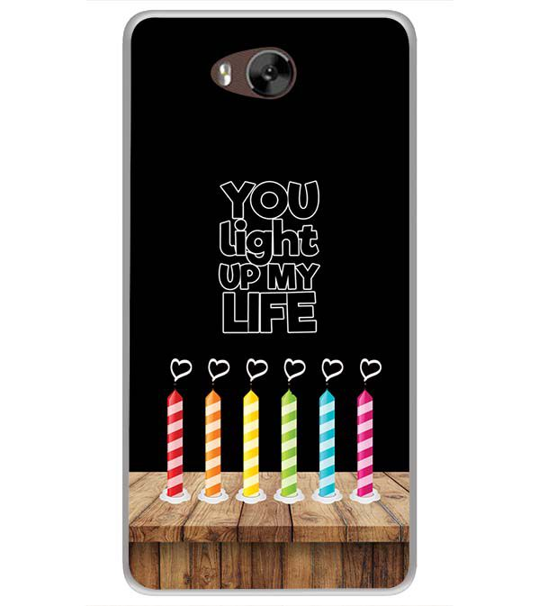 Light Up My Life Soft Silicone Back Cover for LYF Wind 4s