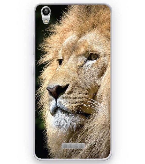 Lion Soft Silicone Back Cover for Micromax Canvas Fire Q386