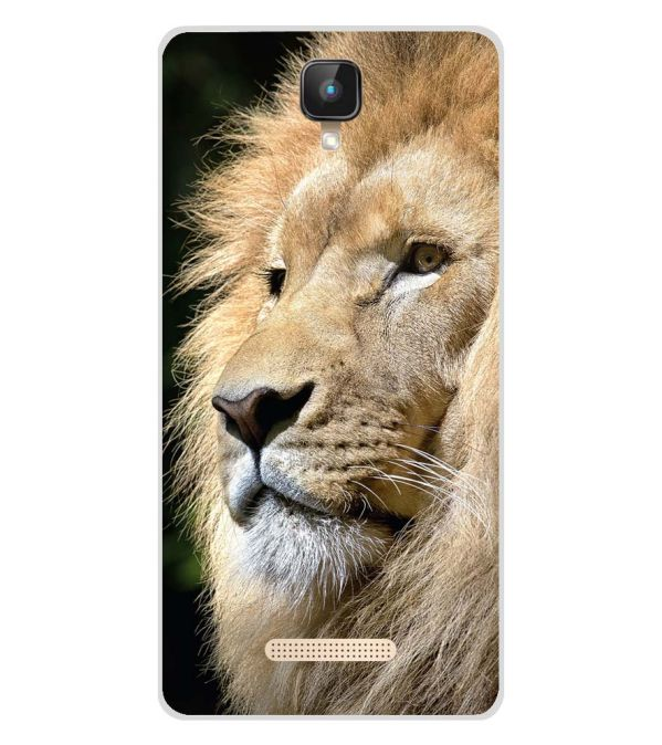 Lion Soft Silicone Back Cover for Intex Aqua Lions 2 4G