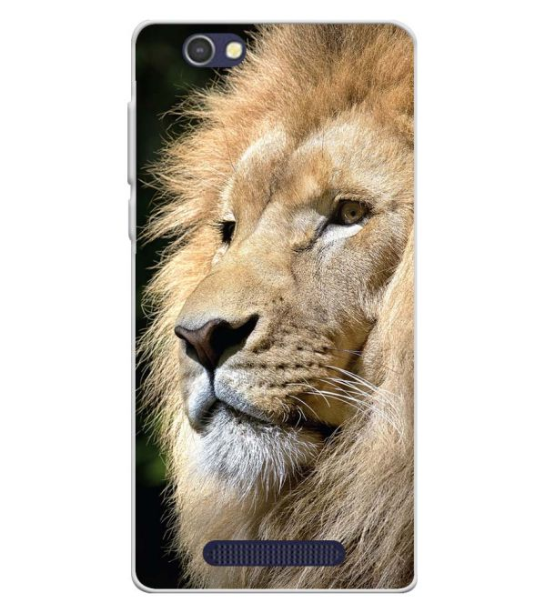 Lion Soft Silicone Back Cover for Lava A72