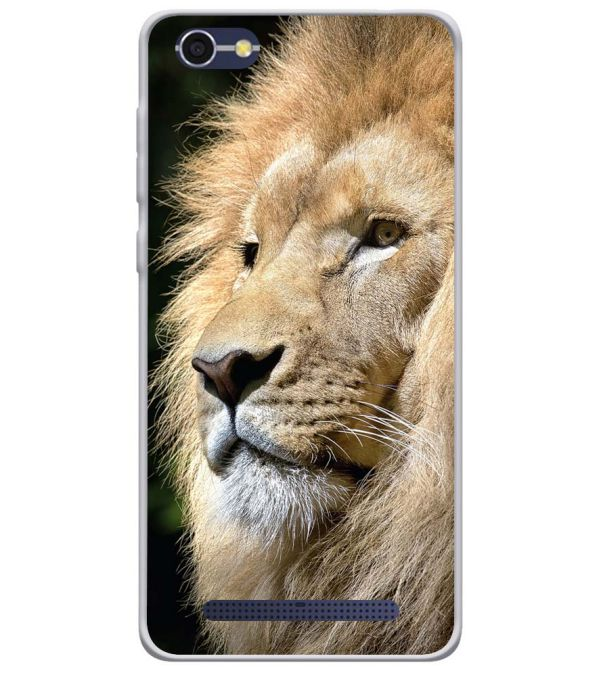 Lion Soft Silicone Back Cover for Lava A77