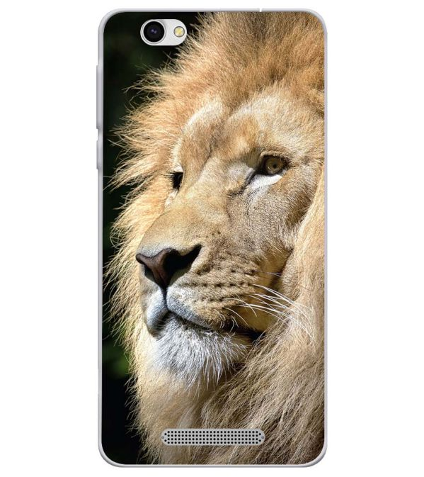 Lion Soft Silicone Back Cover for Lava X28