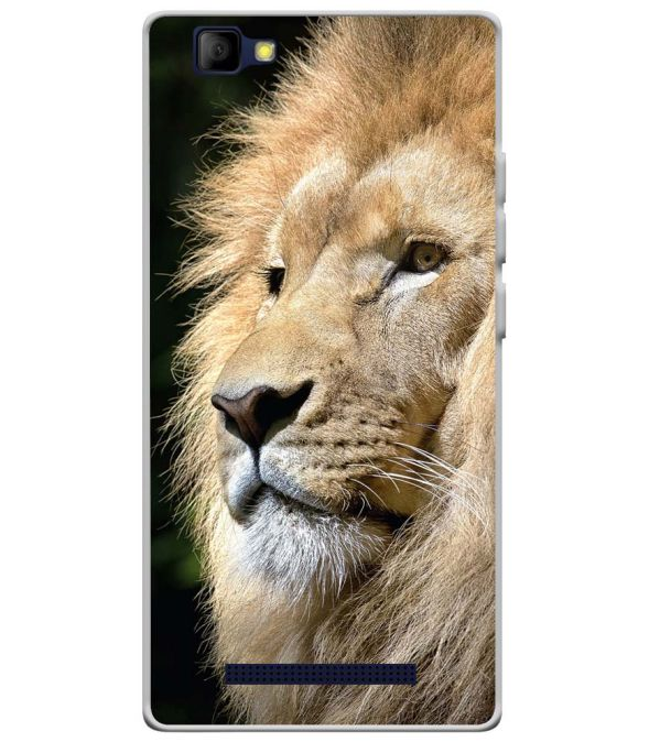 Lion Soft Silicone Back Cover for Lyf Wind 7S