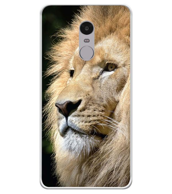 Lion Soft Silicone Back Cover for Xiaomi Redmi Note 4